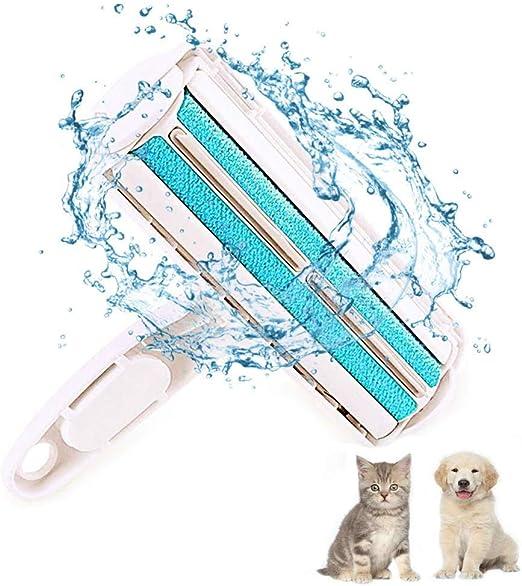 QIERTV Quitapelos y Rodillos para Mascotas, Mágico Depilación Eliminador de Pelo para Animales, Cepillo de Limpieza Removedor de Pelaje para Perro y Gato (Azul): Amazon.es: Productos para mascotas