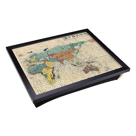 Bandeja de regazo con cojín acolchado y diseño de mapa del ...