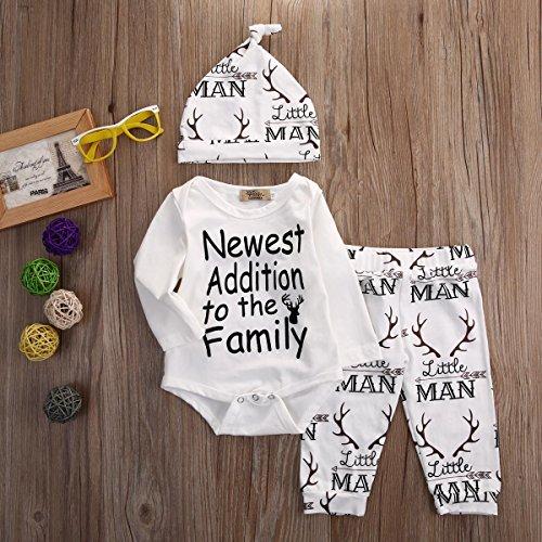 Ihram Kids For Sale Dubai: Baby Boy Girl Suit For Baby Shower Deer Print Long Sleeve