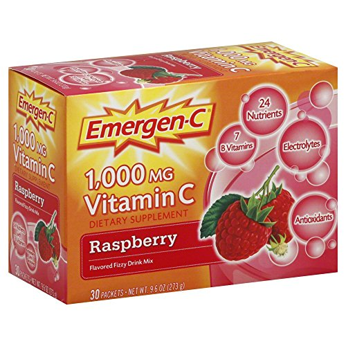 Emergen-C Flavored Fizzy Drink Mix - Raspberry 30-Count (Pack of 3)