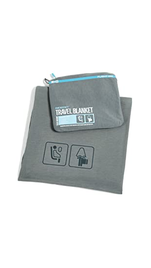 Flight 001 Travel Blanket, Charcoal, One Size