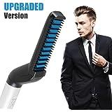 Beard Straightener,Felicigeely Quick Beard Straightener Styling Comb, Electric Hair Curler for Men