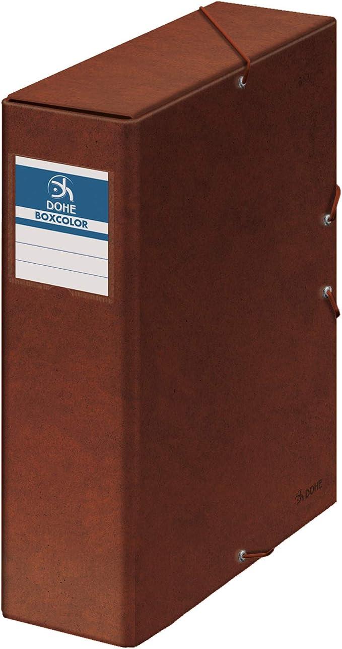 Dohe 9574 - Caja proyectos lomo, Estampado Cuero, 9 cm: Amazon.es: Oficina y papelería
