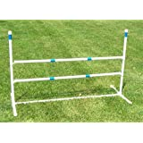 Agility Gear Training Jump (One Jump with Two 48 inch Striped Bars)