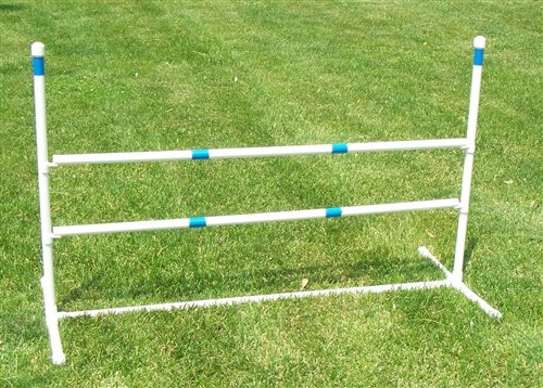 3 Pack of Agility Gear Training Jumps - Two 48'' Striped Bars on each Jump