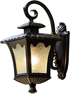 DSYADTCountry House Individuality Creativity LED Lamp European Style Outdoor Waterproof Vintage Courtyard Wall Light Iron Metal Porch Lights E27 Outdoor Wall Lamp