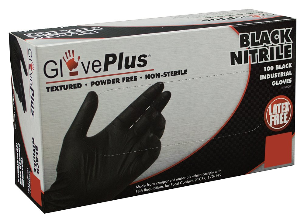 AMMEX – GPNB – Nitrile Gloves – Disposable, Powder Free, Latex Rubber Free, 5 mil, Black Nitrile Gloves 61zpVfMDGvL