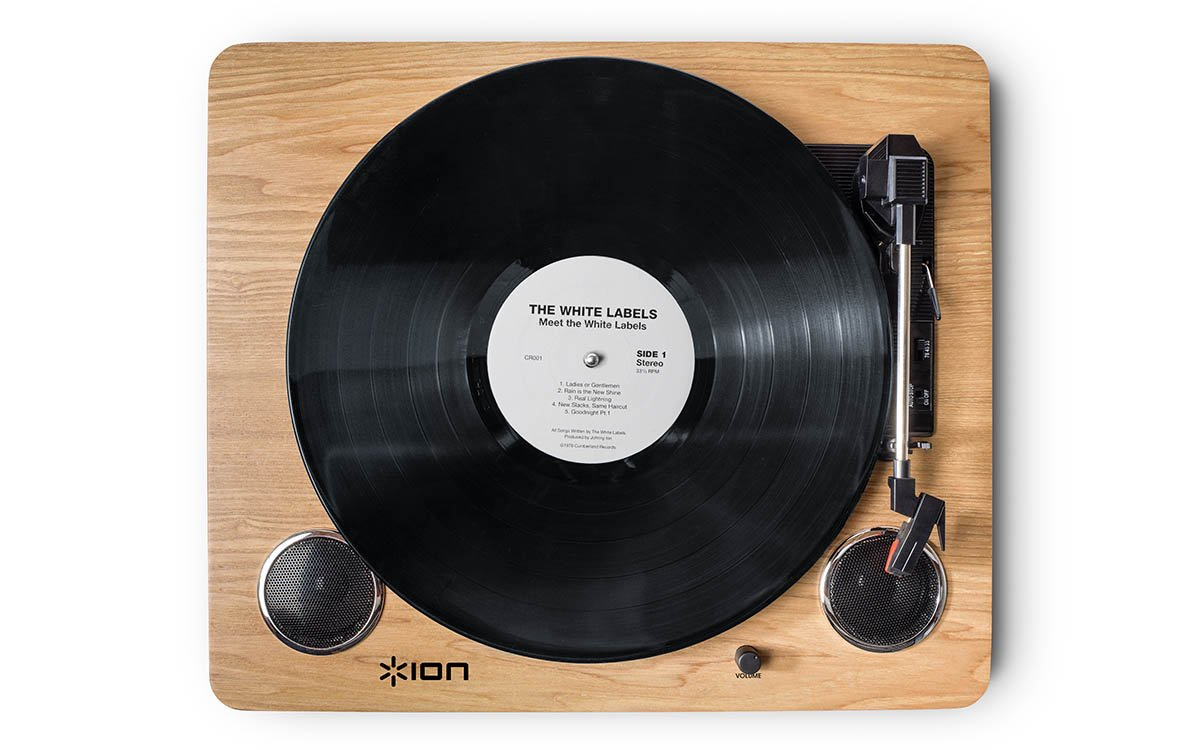 ION Audio Archive LP | Digital Conversion Turntable with Built-In Stereo Speakers and Diamond-Tipped Stylus