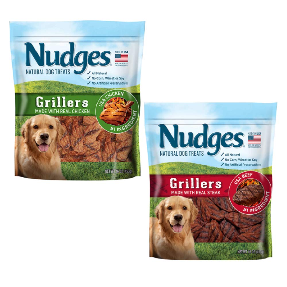 Nudges Duck Jerky Dog Treats (2 Flavor GRILLERS Bundle) Nudges-Rp