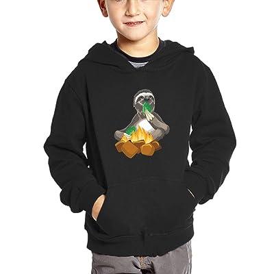 Qij Cloth Campfire Sloth Boy Sweatshirts Cotton Soft and Cozy Jacket Hoodies