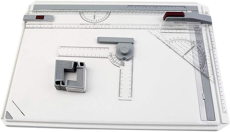 Tablero de dibujo A3, Mesa de tablero de dibujo A3 portátil con movimiento paralelo Ángulo ajustable Dibujante Arte Pintura Paleta de herramientas de dibujo - Transparente: Amazon.es: Hogar