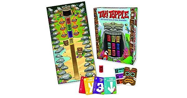 Amazon.com: Gamewright Tiki Topple – El juego de tablero de ...