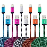 5Pack 3.3 FT iPhone Charger Cord Nylon Braided for Apple iPhone iPad iPod