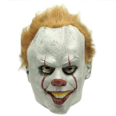 Funny Mask Finder Scarry Clown Latex Mask Evil Clown Halloween Costume Prop  sc 1 st  Amazon.com & Amazon.com: Funny Mask Finder Scarry Clown Latex Mask Evil Clown ...