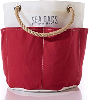 product image for Sea Bags Recycled Sail Cloth All Purpose Red Tool Bucket Bag