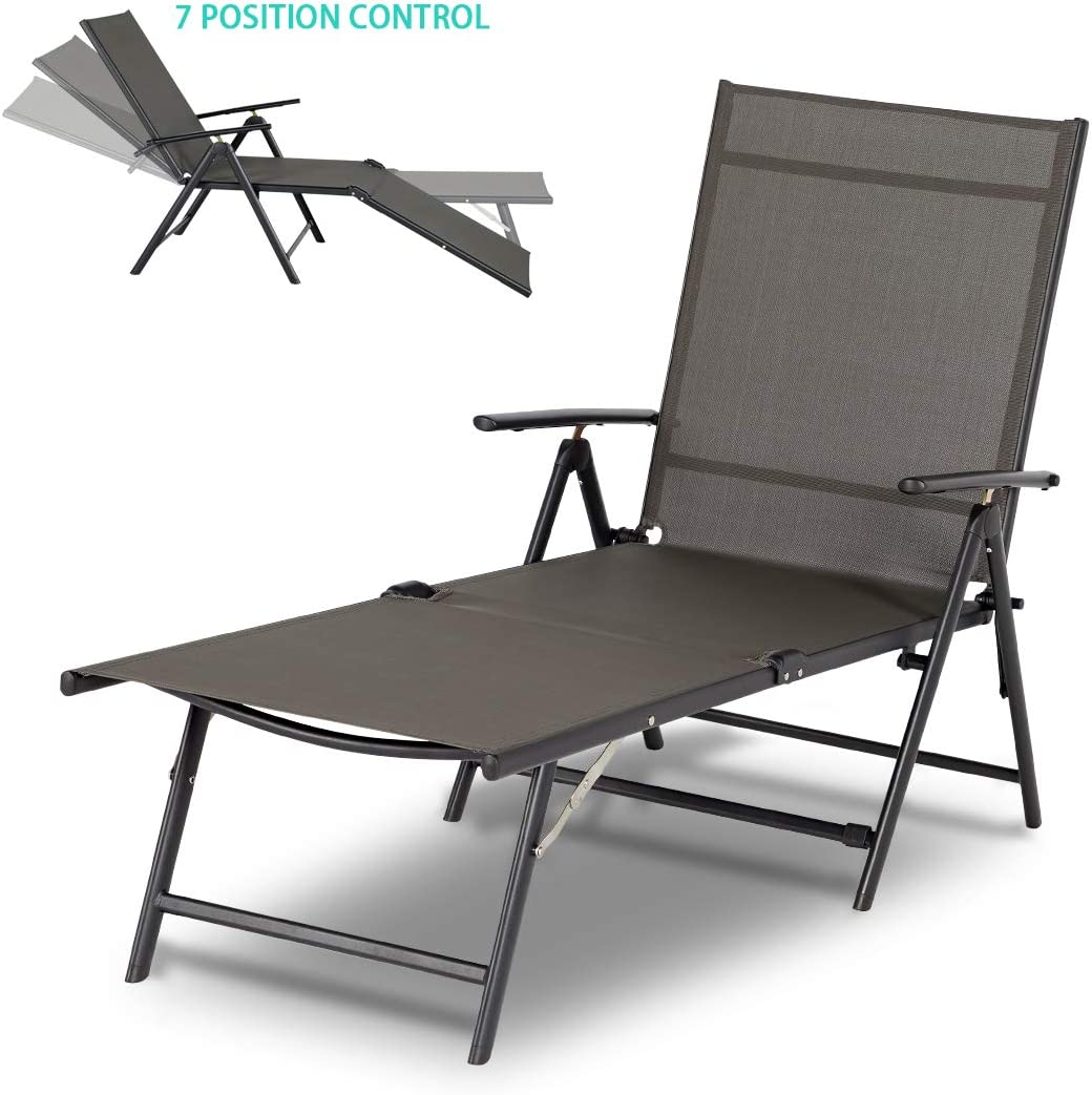 - Amazon.com: Esright Outdoor Chaise Lounge Chair, Folding Textiline