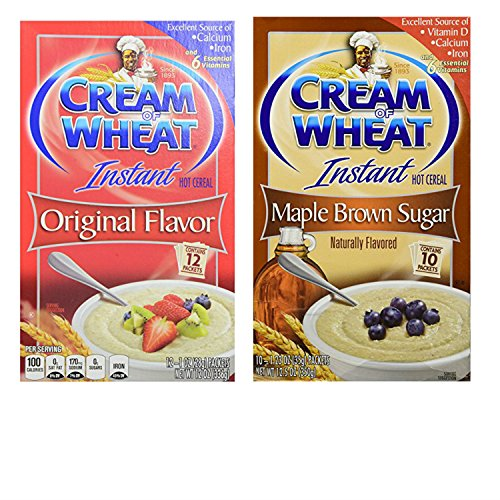Cream of Wheat Instant Oatmeal Large Box Variety Pack. Original Flavor and Maple Brown Sugar Instant Hot Wheat Cereal. Convenient One-Stop Shopping. Everybody's Favorite Hot Breakfast ()