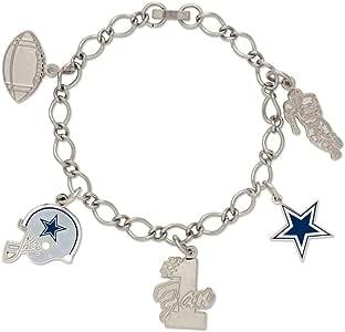 NFL Dallas Cowboys Carded Bracelet with Charm Jewelry