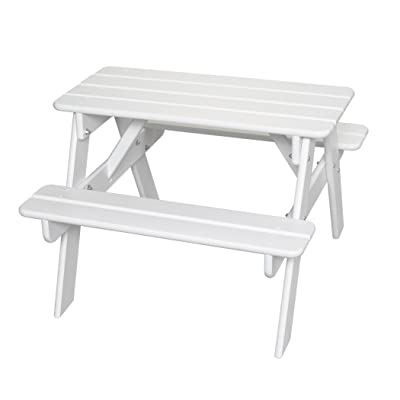 Little Colorado Child's Picnic Table- White: Kitchen & Dining