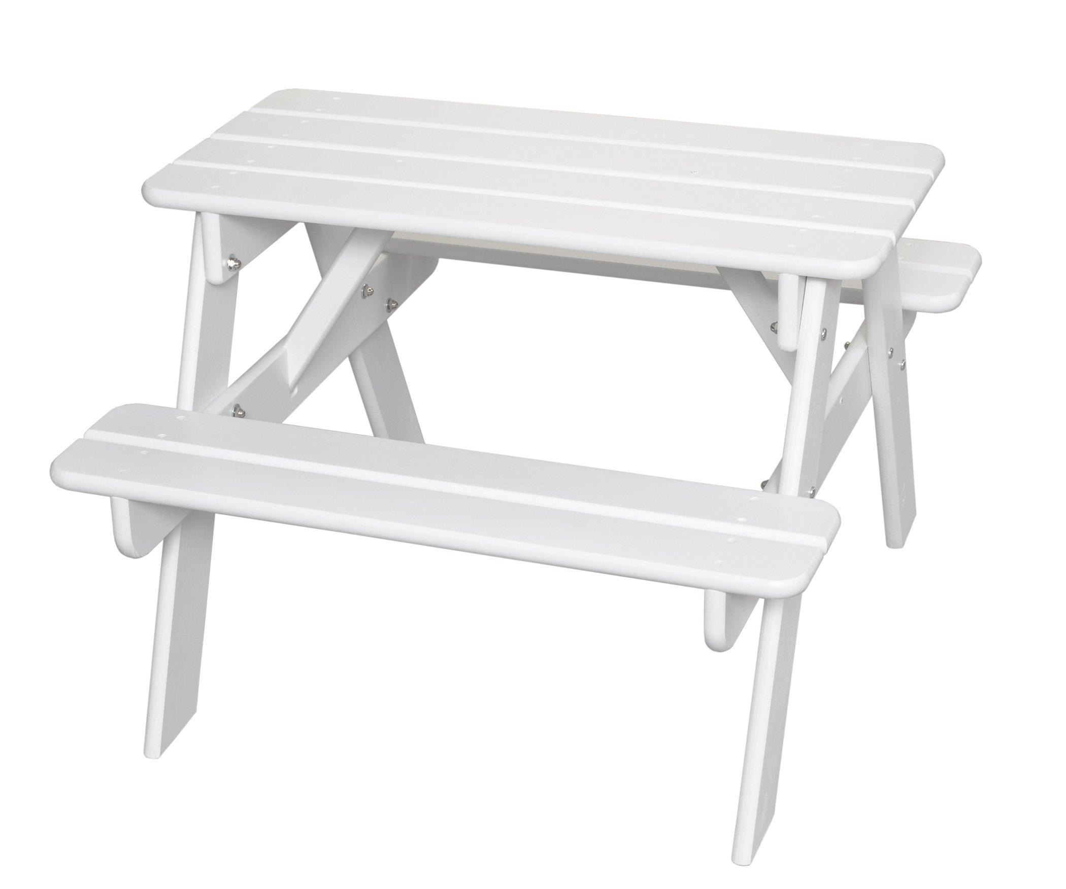Little Colorado Child's Picnic Table- White