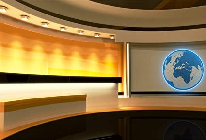 Laeacco Yellow Grooved Broadcasting Room Backdrop Vinyl 7x5ft Online  Classroom Television Compere Photography Background TV Station Programing
