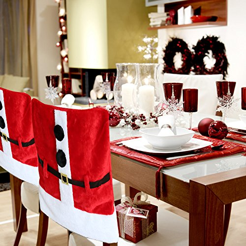 D Fantix Santa Claus Suit Christmas Chair Covers Belt