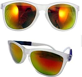 423449be4d Clear Frame Sunglasses Classic Retro Vintage Wayfarer Color Mirror Lens  Orange !