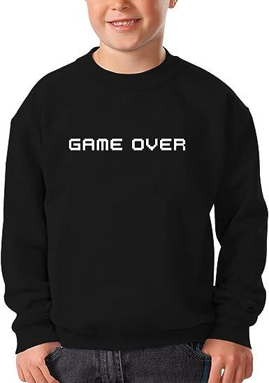 Sudadera Niño Negra Videojuegos Pxel humorística con Game Over (Parodia de Videojuegos Pxel) (Ref:35): Amazon.es: Ropa y accesorios