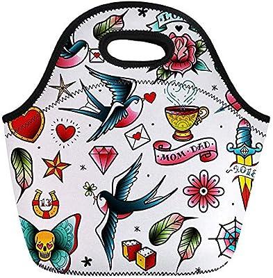 Bolsas de almuerzo Cinta Cuchillo de tatuaje tradicional de la ...