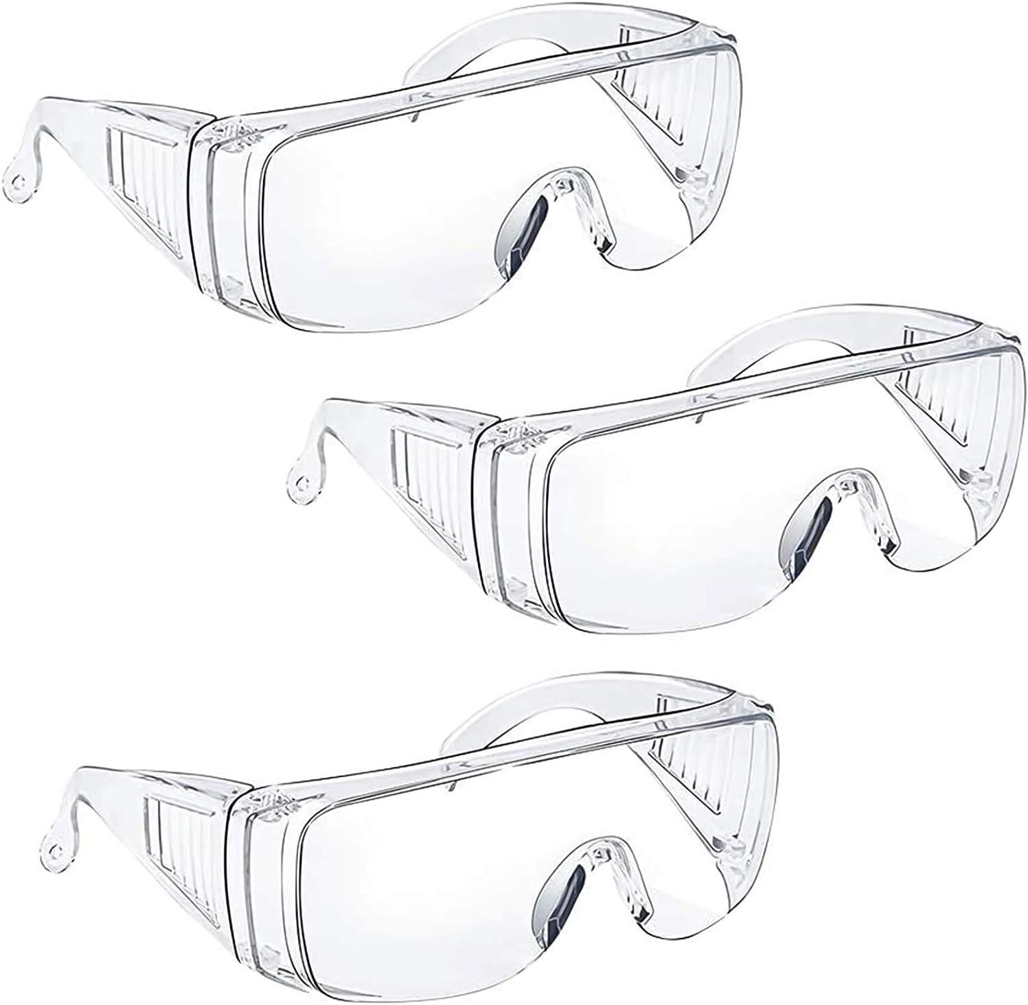 Gafas protectoras Tavool antivaho, protección para los ojos con visión clara, resistentes a los arañazos y a los rayos UV, para personas que llevan gafas, unisex, 3 unidades