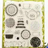 Hijing Transparent Silicone Clear Rubber Stamp Cling Diary Scrapbooking Craft DIY Card