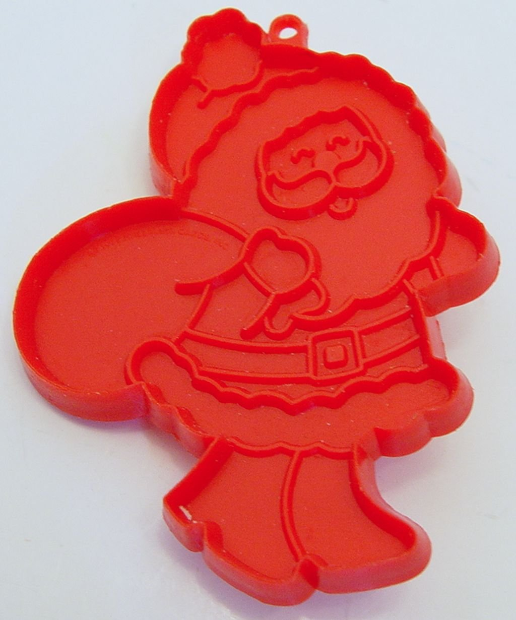 Amazon Com Vintage Hallmark Cookie Cutter Red Santa With Toy Bag 4