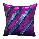 Nunubee Glitter Sequin Pillow Covers Mermaid Sparking Cushion Cover Decorative Pillowcase Embroidery 6