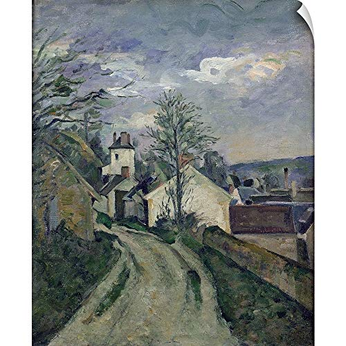 CANVAS ON DEMAND Paul Cezanne Wall Peel Wall Art Print Entitled The House of Doctor Gachet (1828 1909) at Auvers, 1872 73 (Doctor Gachets House)