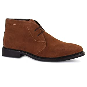 CHATHAM Men's GABLE Suede Rubber Sole Lace Up Chukka Boot