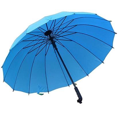 PanDaDa Paraguas Plegables, automático para Abrir y Cierre Compacto antiviento Paraguas 16 Sellos Refuerzo Buena