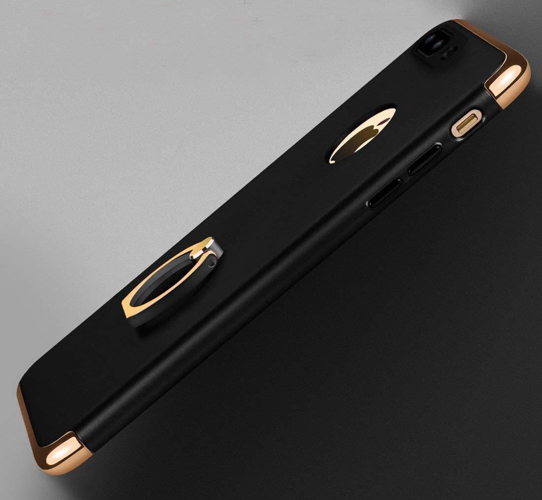 Rojo Anillo de Metal Soporte Funda Antigolpes de alta calidad PC Ultra Slim 3 en 1 antigolpes Carcasa r/ígida Bumper Cover Caler iPhone 7 Plus iPhone 8 Plus Carcasa r/ígida