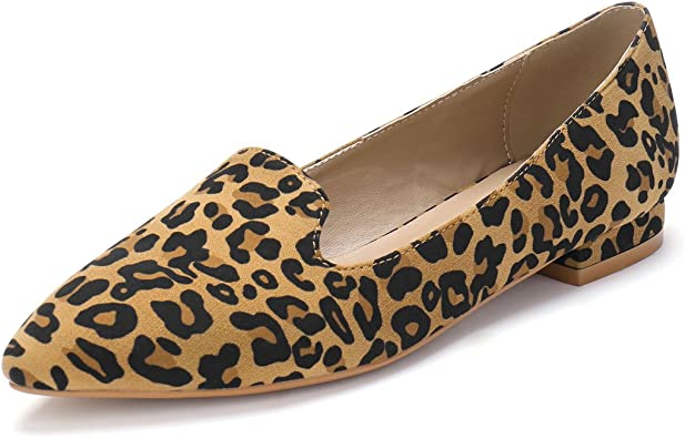 Slip On Pointed Toe Loafer Flats