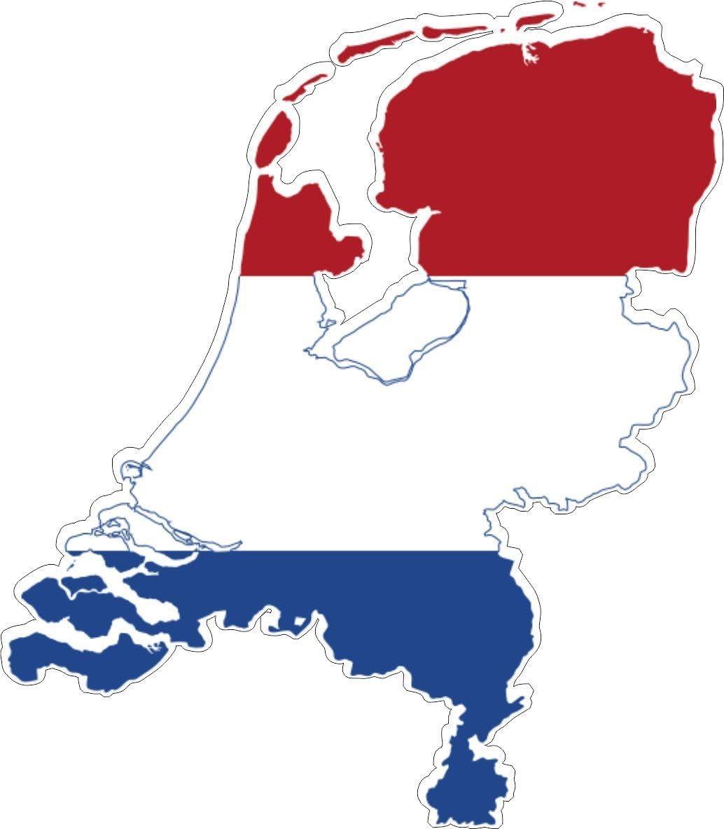 Akachafactory Selbstklebend Wandtattoo Sticker Auto Vinyl Flagge Karte Land Unten Holland Auto