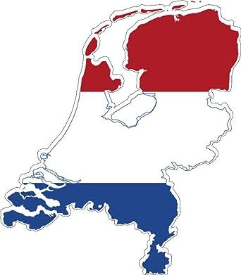 Niederlande Karte Umriss.Selbstklebend Wandtattoo Sticker Auto Vinyl Flagge Karte Land Unten