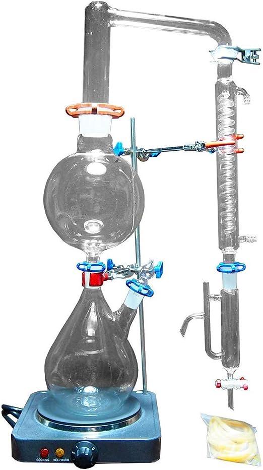 YCLED 2000ml Lab Esencial de Vapor de petróleo Destilación Aparato ...