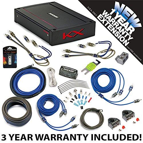 Kicker 44KXA4004 Car Audio 4 Channel Amp KXA400.4 & 4 GA Amplifier Accessory Kit - 3 Year Warranty!