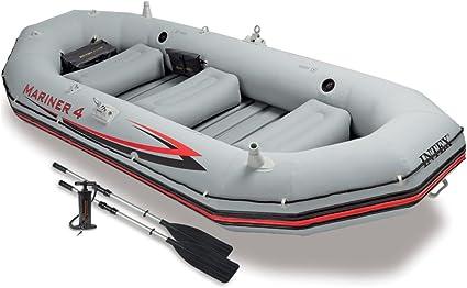 Amazon.com: Juego bote inflable Intex Mariner 4, 4-personas ...
