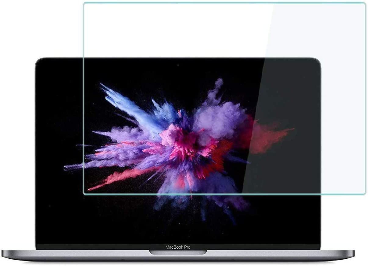 MUBUY-GOL Tempered Glass Screen Protector for MacBook Pro 15 Inch Model A1707 A1990, 9H Hardness Glass Screen Protector [No Bubble] [Reduce Fingerprint] [Anti Scratch] [0.15mm]