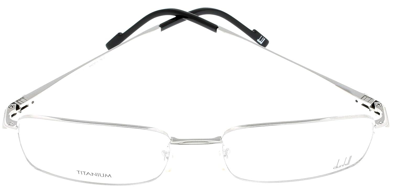 8d4eebf20d6 Amazon.com  Dunhill Prescription Eyeglasses Frame Unisex DU68 01A Shiny  Palladium Titanium  Clothing