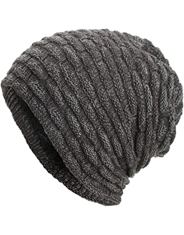 3c466cf297b Women Men Warm Winter Baggy Beanie Hat BCDshop Crochet Knit Caps Skull Hats  Elastic