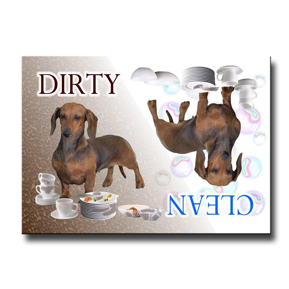 Dachshund Clean Dirty Dishwasher Magnet No 1
