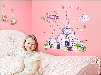 Castelli Di Cartone Streaming : Ufengke castello di cartone animato principessa adesivi murali