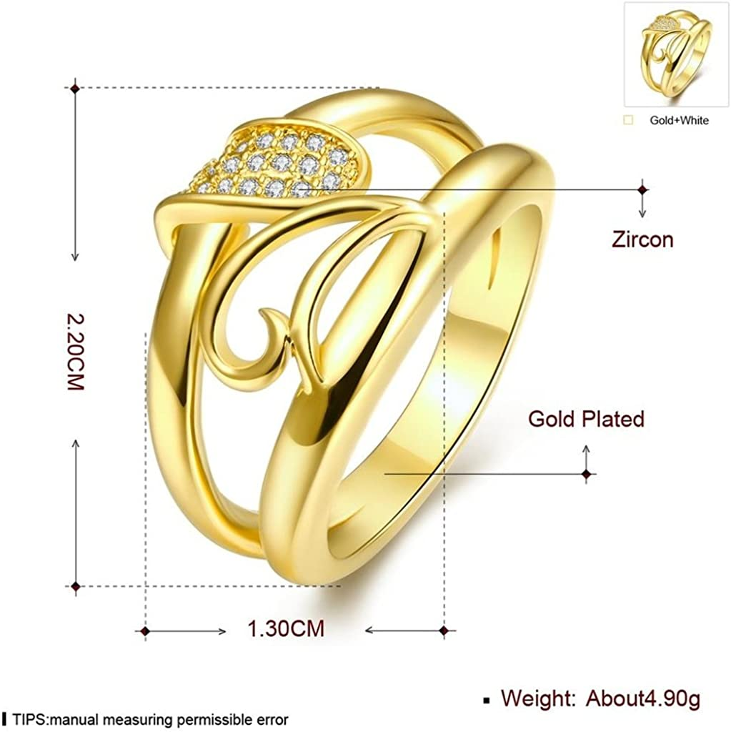 AMDXD Jewellery Stainless Steel Wedding Band for Men Hollow Heart Oval Cubic Zirconia Ring