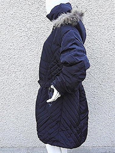 fashionfolie Damen Daunenjacke Mantel schwarz schwarz mJdAHB